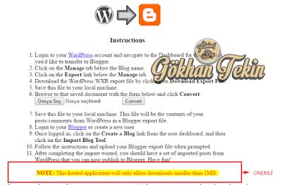 Wordpress içeriğini blogspot ile uyumlu hale getirmek